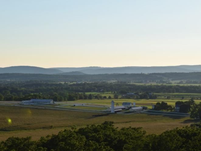 Hot Air Balloon over Eisenhower Farm