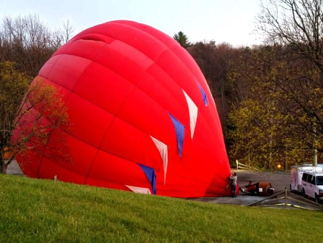 Inflating of Hot Air Balloon