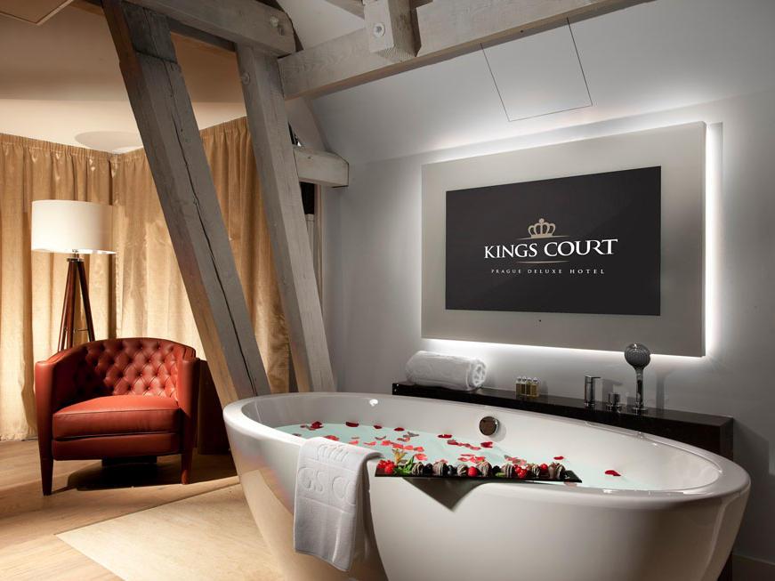 Tower Suite bathroom at Hotel KINGS COURT in Prague