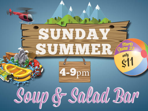 Sunday Summer Soup & Salad Bar