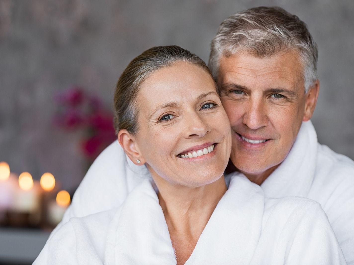 Older Couple enjoy Romantic Night