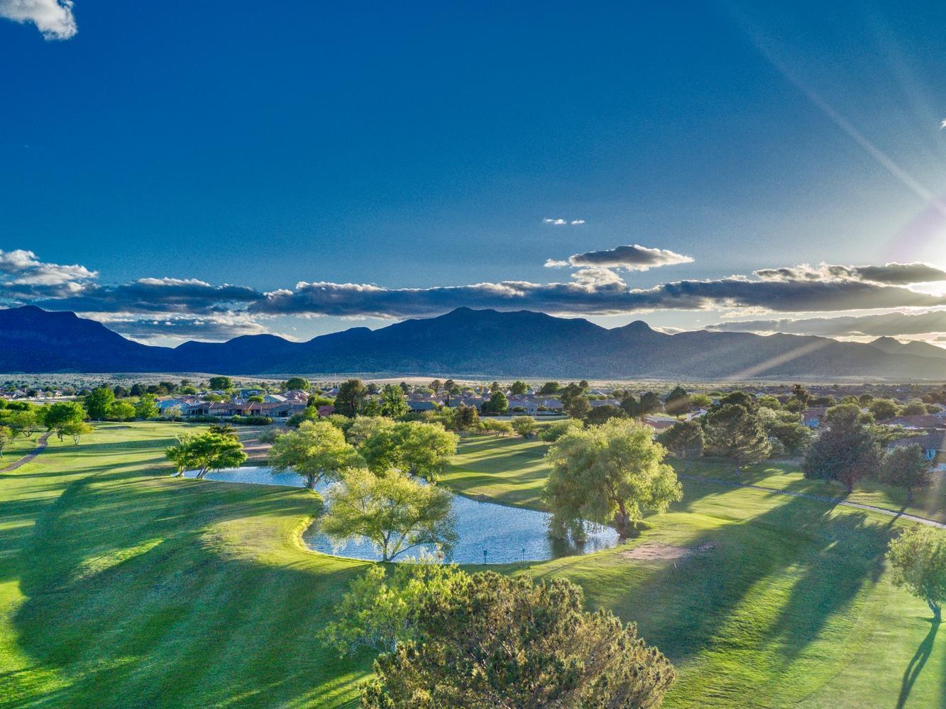 Vast Pueblo del Sol golf course.