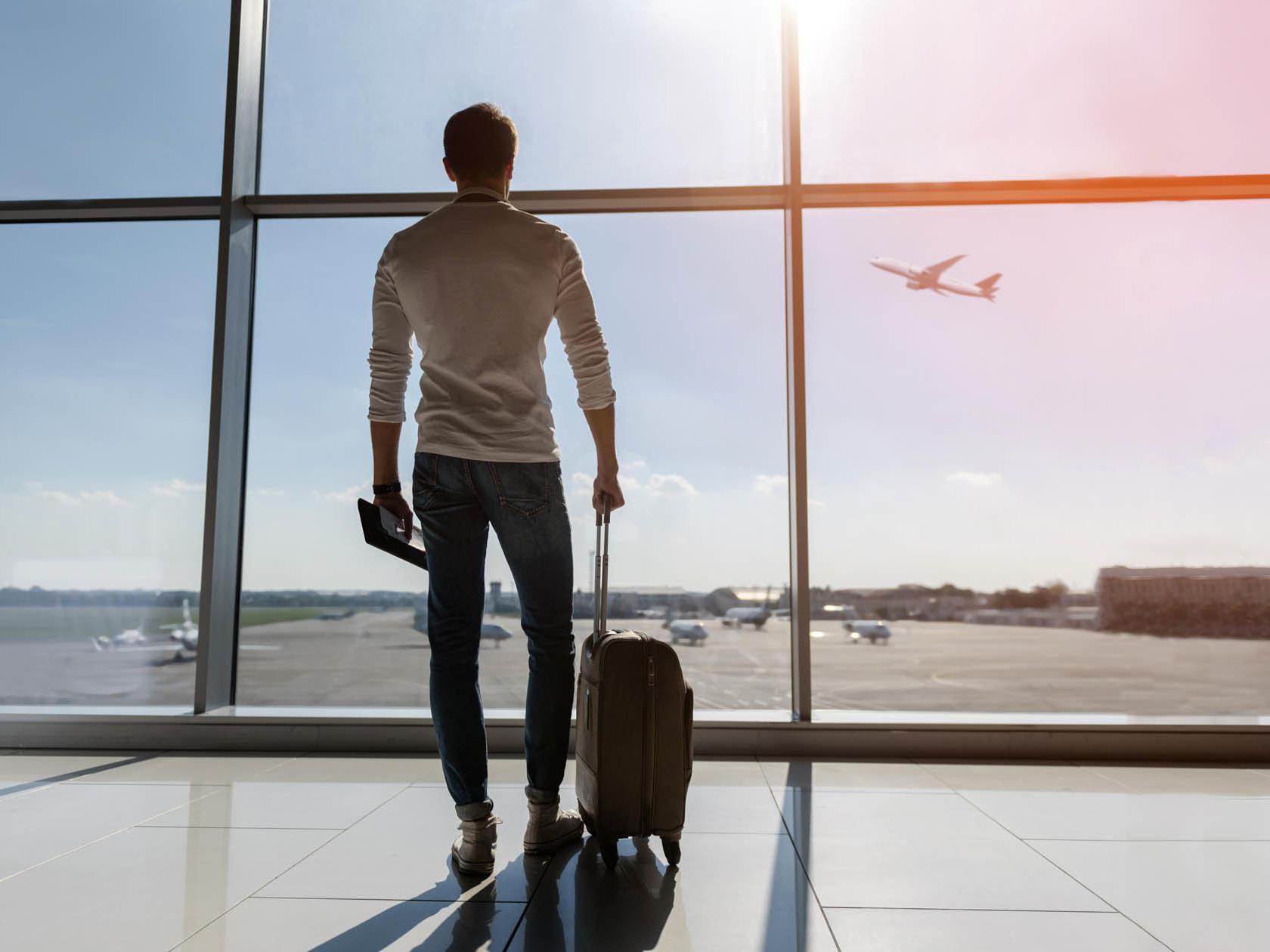 Men in the airport