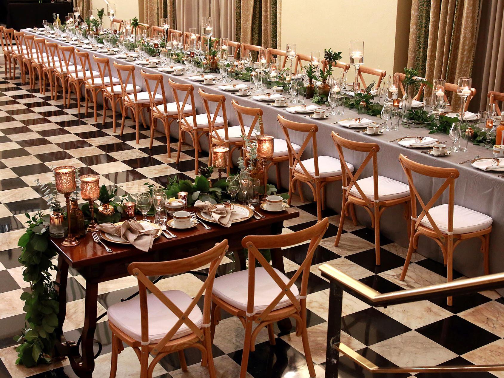 wedding event setting