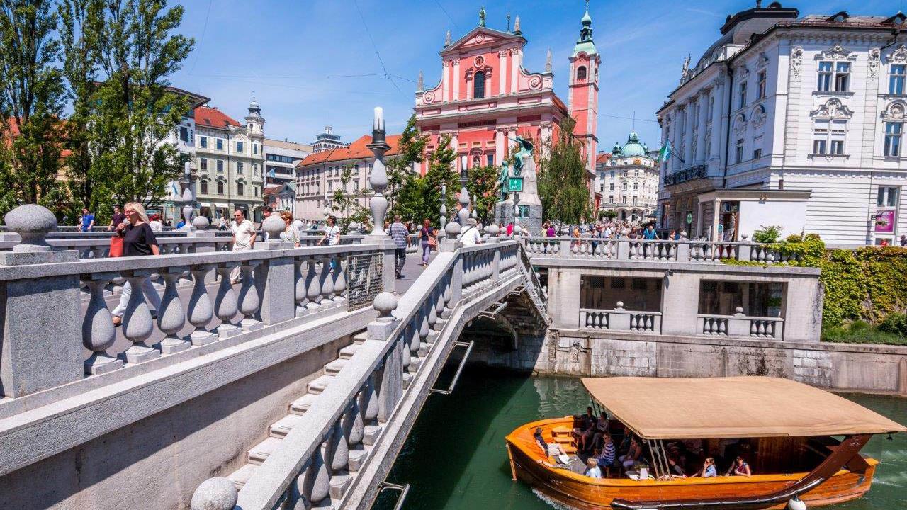 Ljubljana on boat