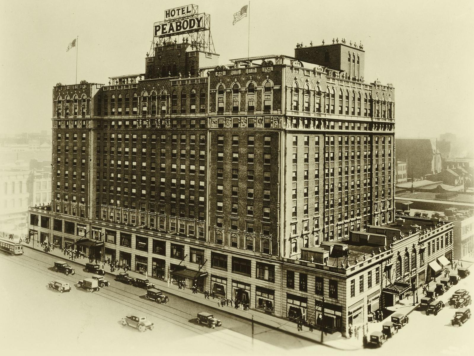 Historical Photo of Peabody Hotel Exterior