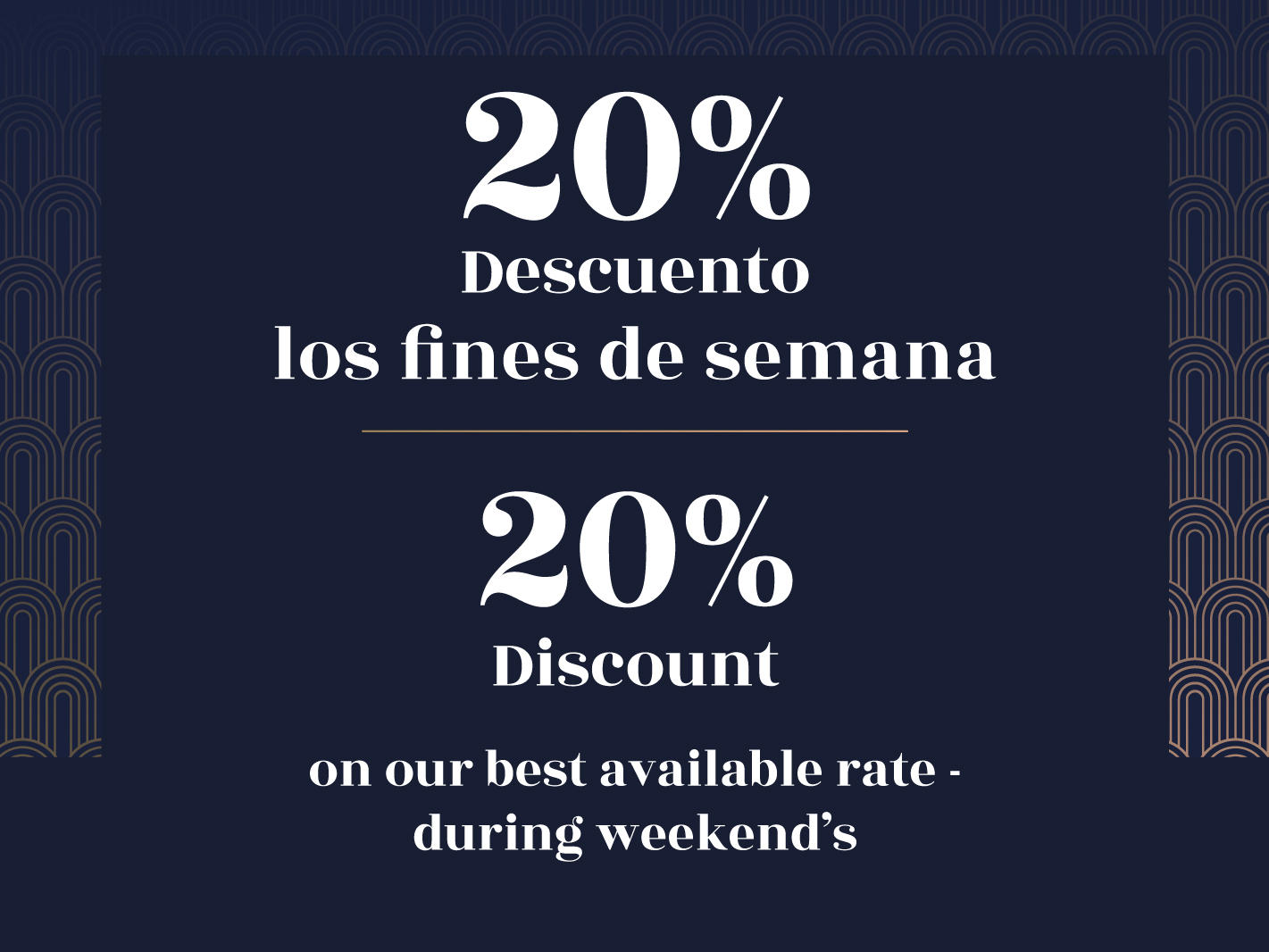 Early booking 20% discount