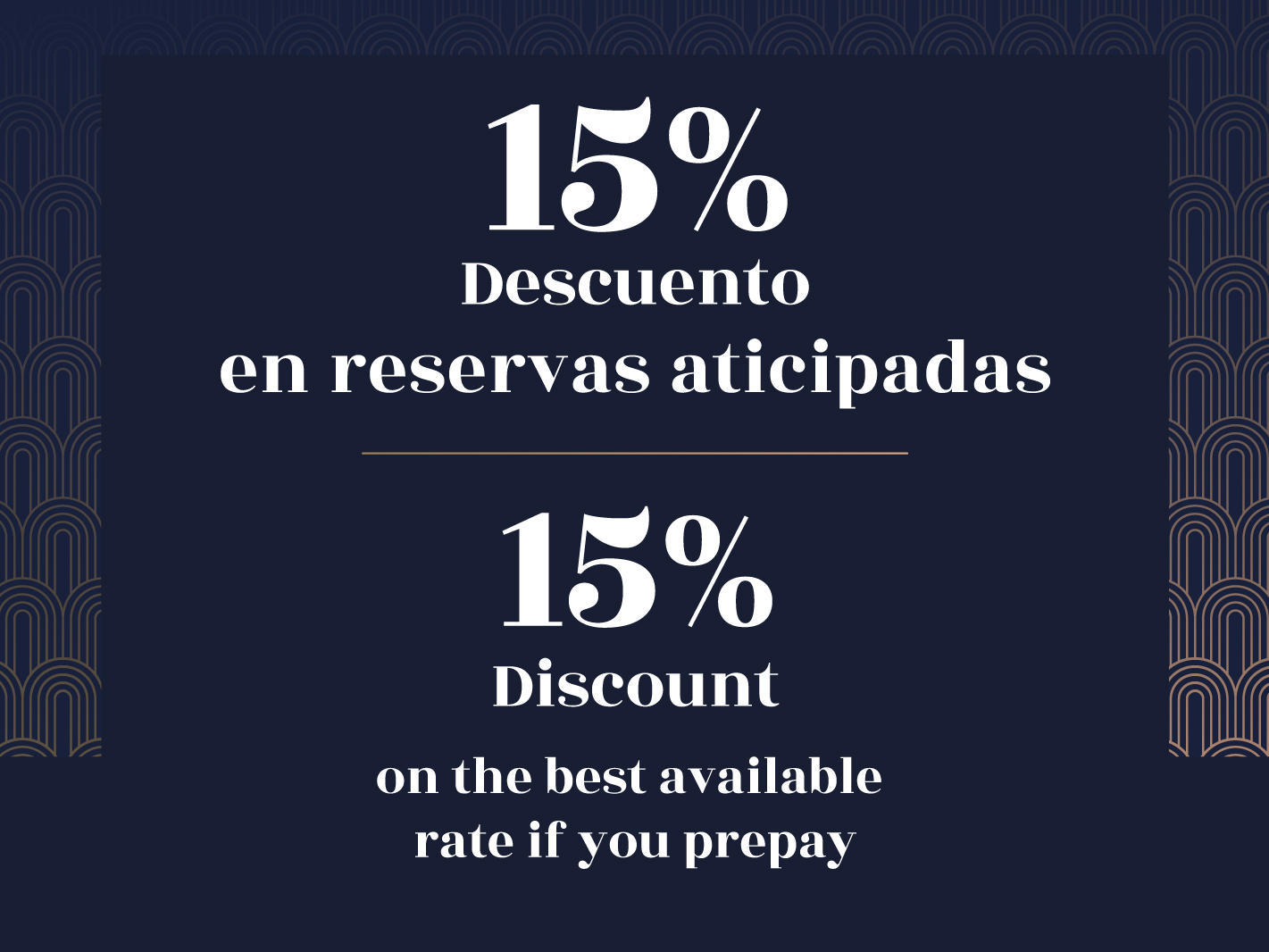 15% Discount on Advance Reservations!