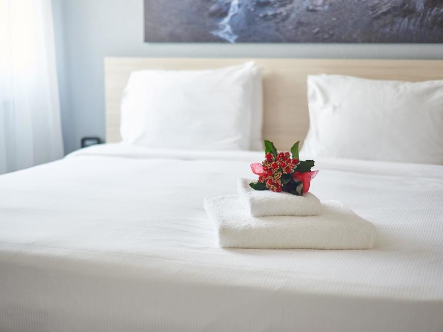 Bedroom at Apart-Hotel Zurich Airport