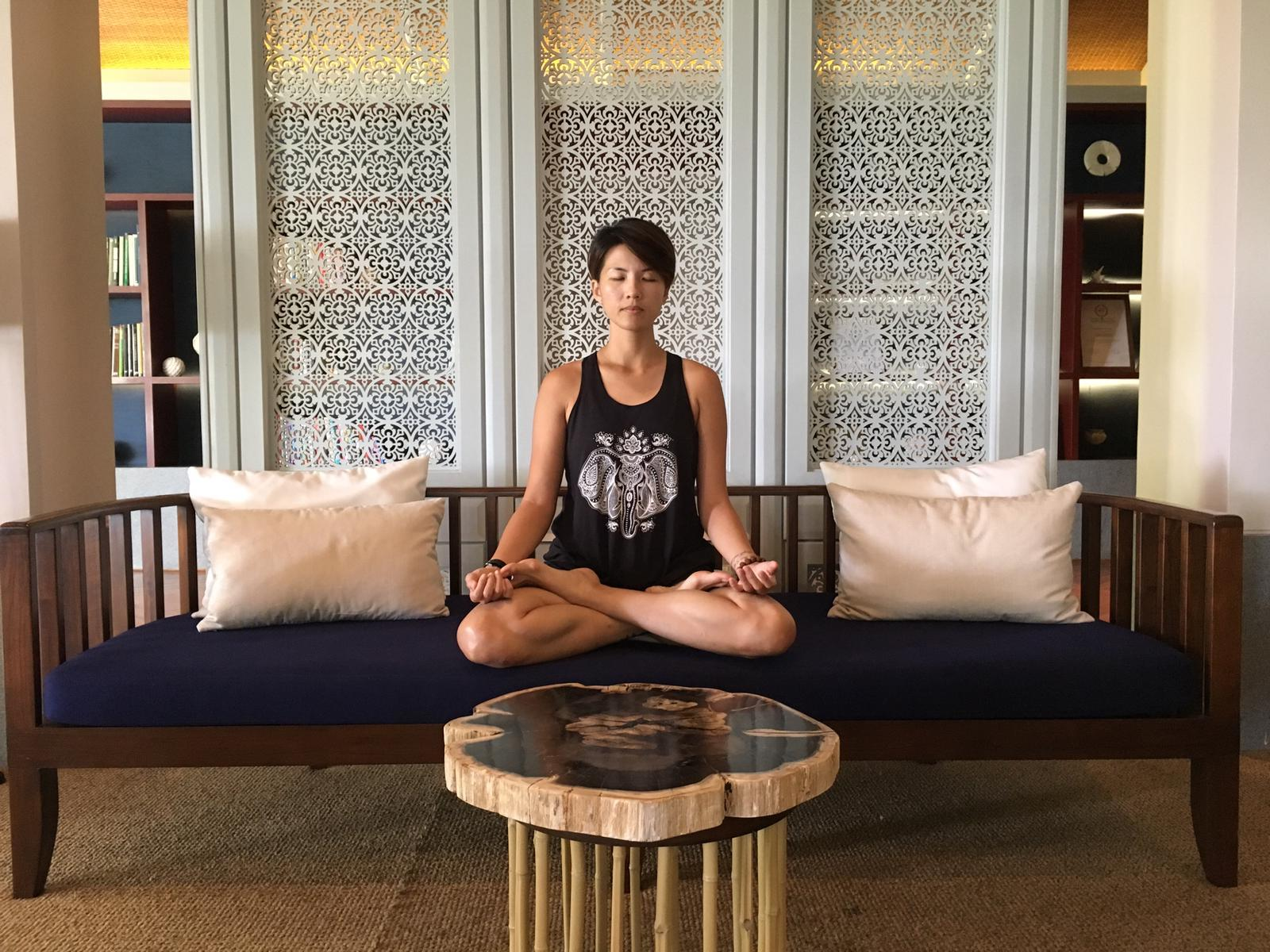 Danica Toh, Founder of Six Spac, meditating