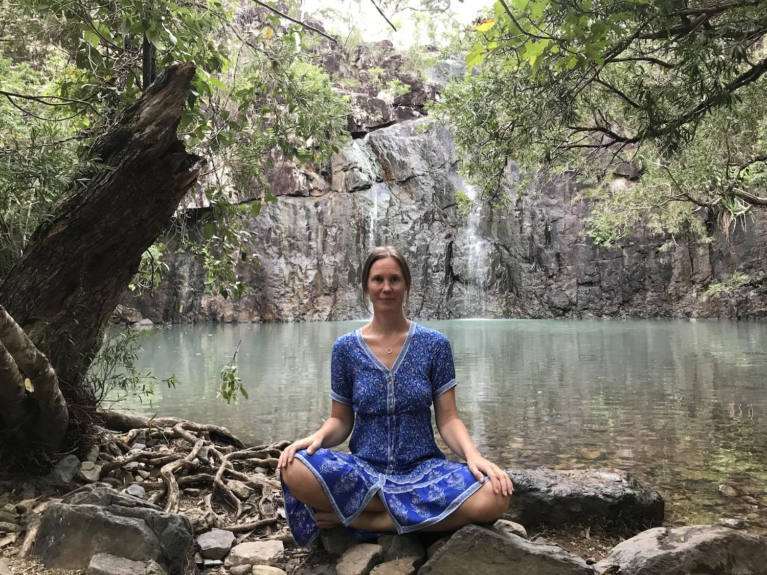 Hanne Koveshnikov at a wellness retreat