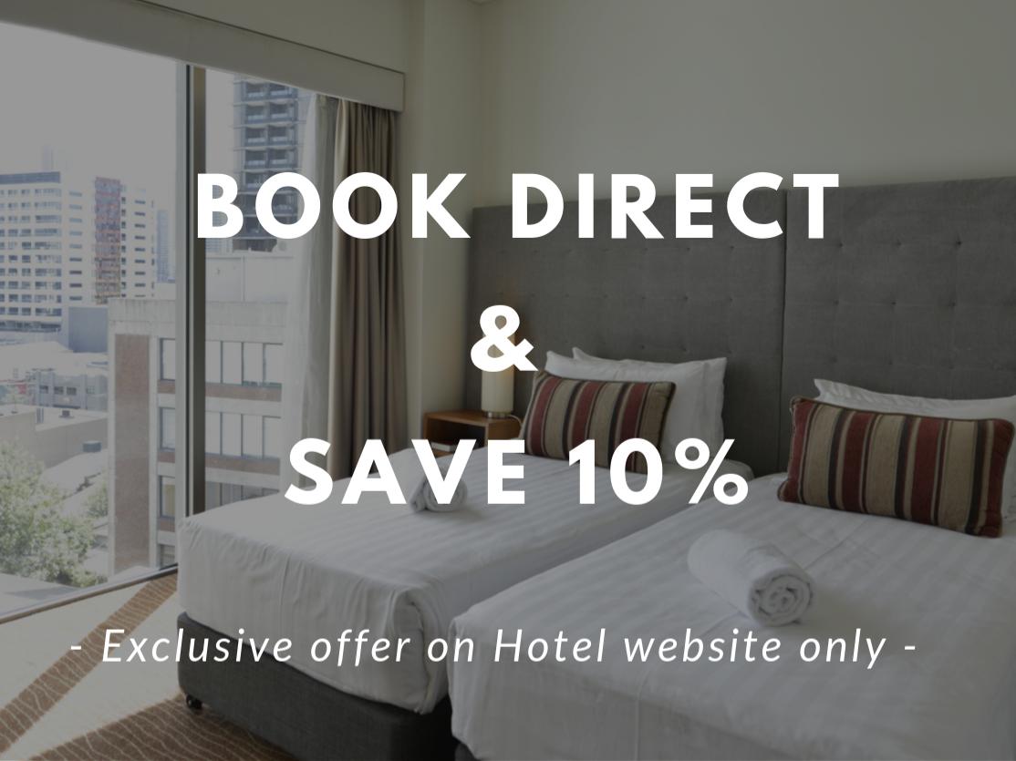 Book Direct & Save 10%