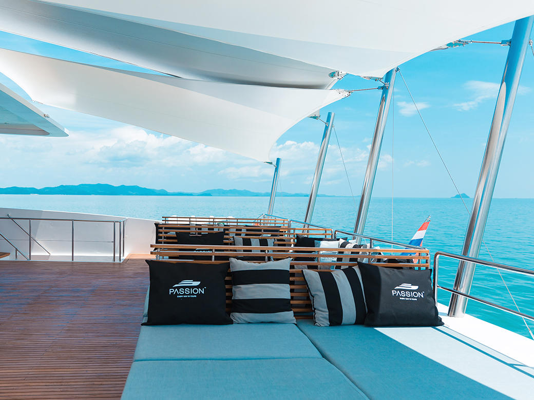 catamaran boat operated by Andaman Passion, the leading luxury boat tour operator in Phuket