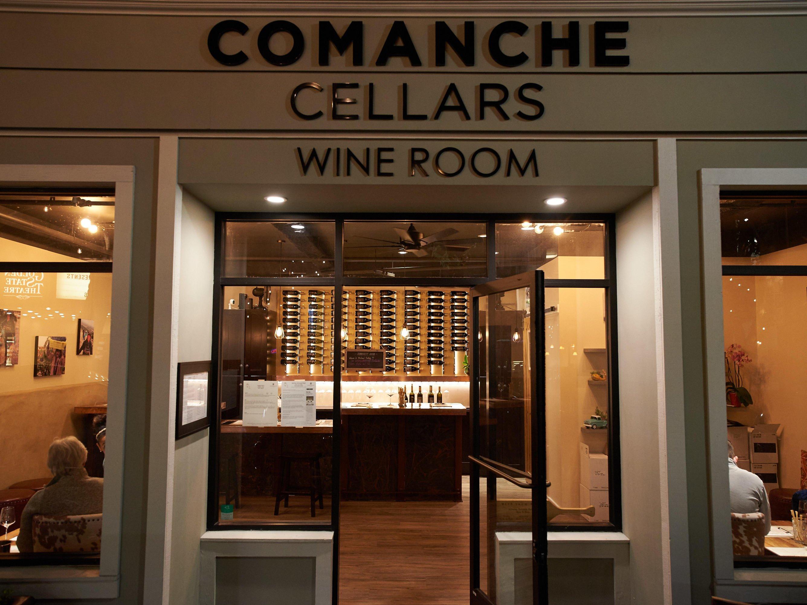 Comanche Cellars wine room