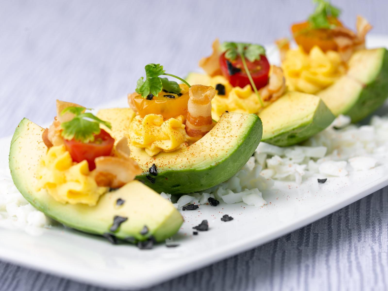 slices of avocado