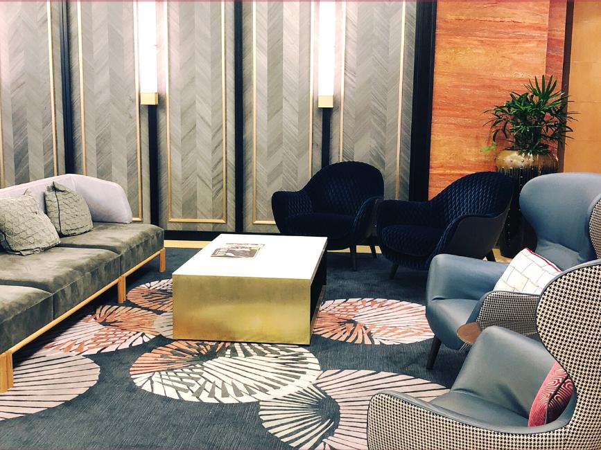 Amora Hotel Jamison Sydney's cosy lounge area