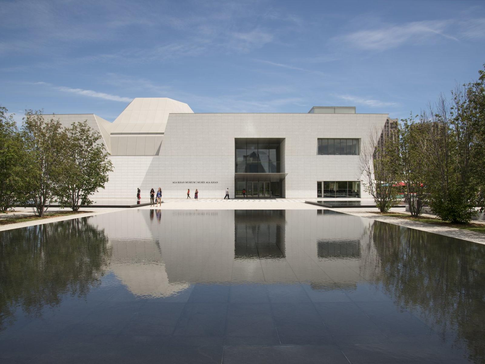 Reflecting pool in front of the Aga Khan Museum