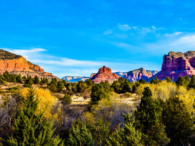 A scenic view of Sedona, Arizona mountains