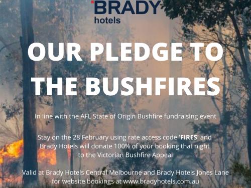 Brady Hotels Central Melbourne bushfire appeal pledge