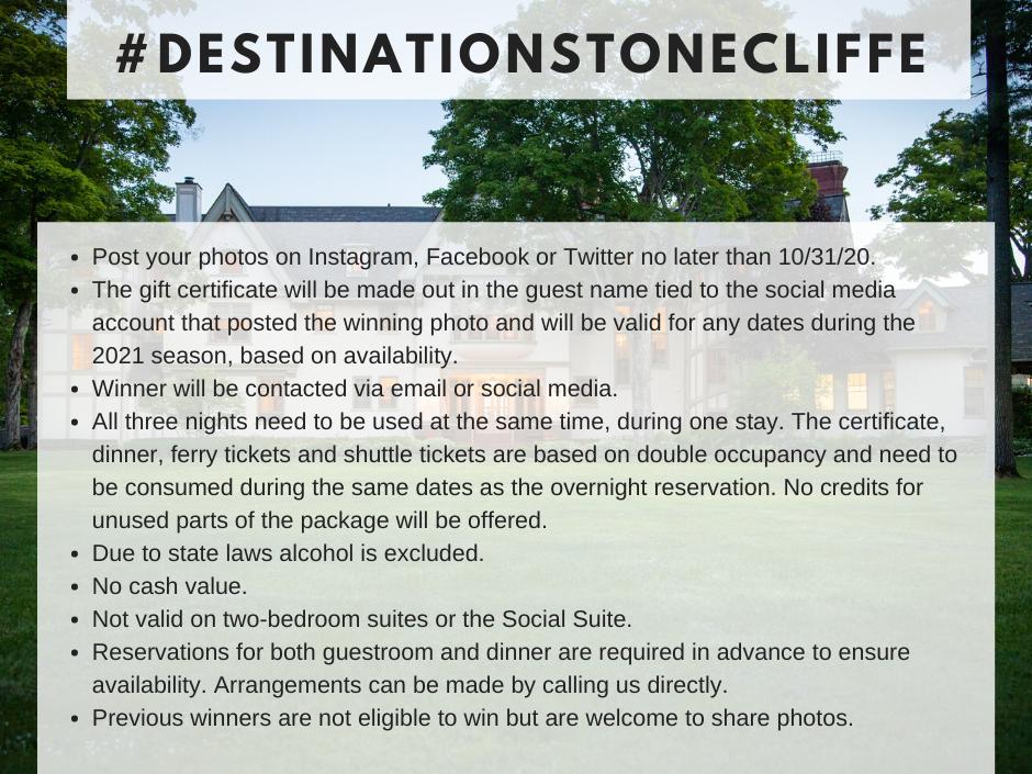 Destination Stonecliffe Contest