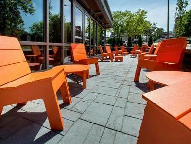 orange outdoor chairs