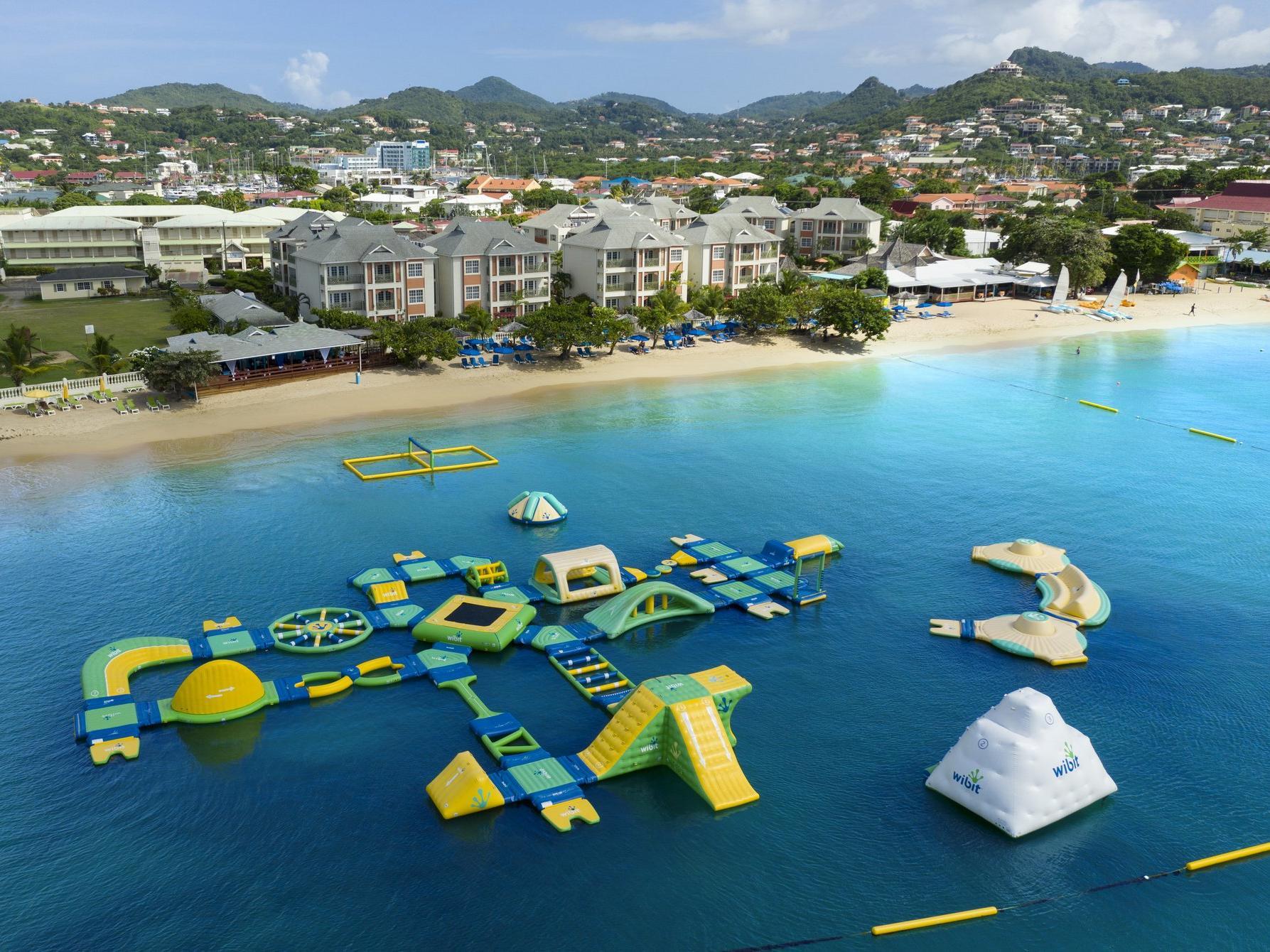 splash park aerial view