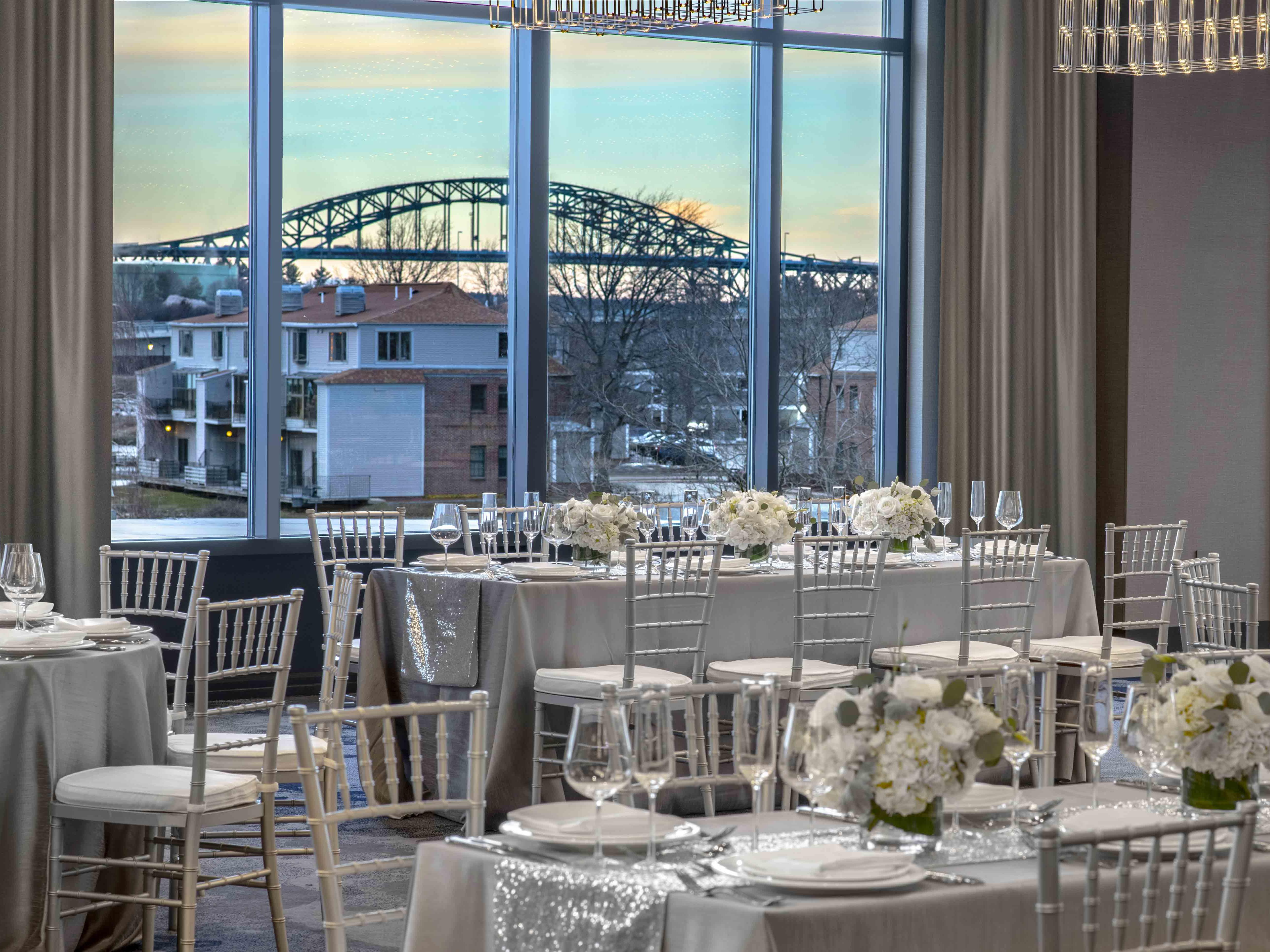 wedding venue with view of bridge