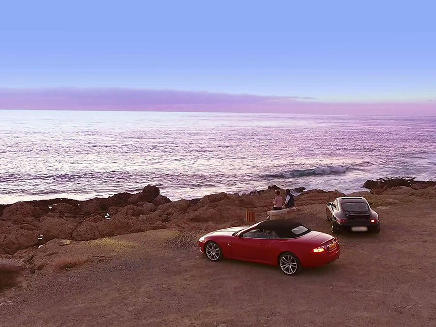cars on the beach