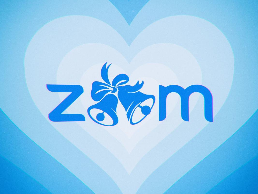 blue hearts that say zoom