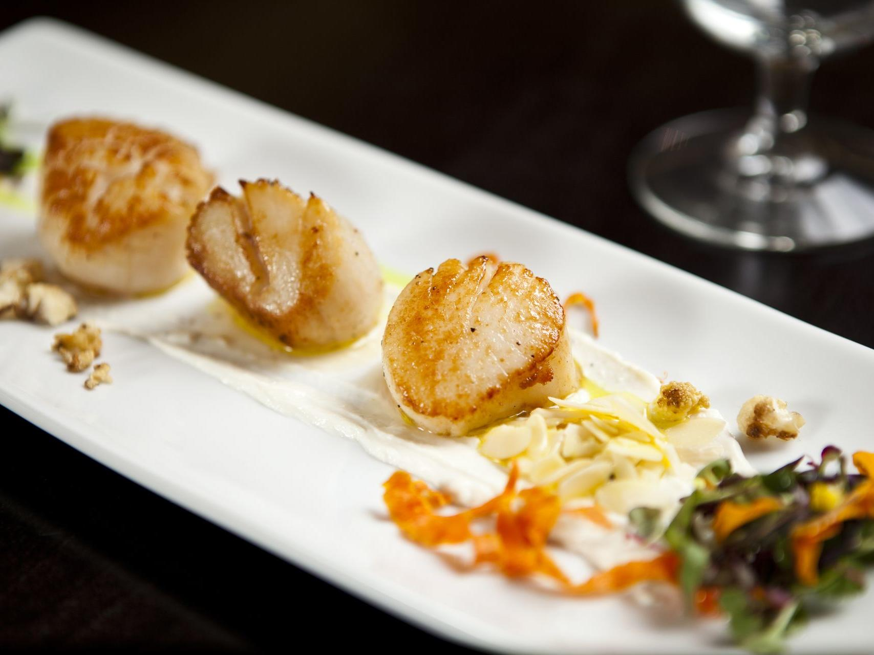 a grilled scallops dish