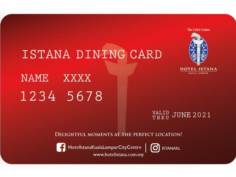 Istana dining card