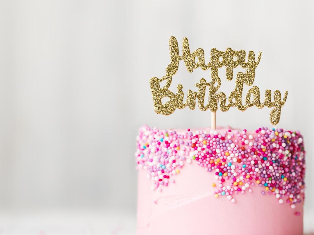 Photo of a birthday cake