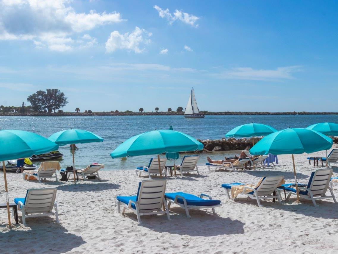 Beach Lounges at Makin' Waves near Shephard's Beach Resort
