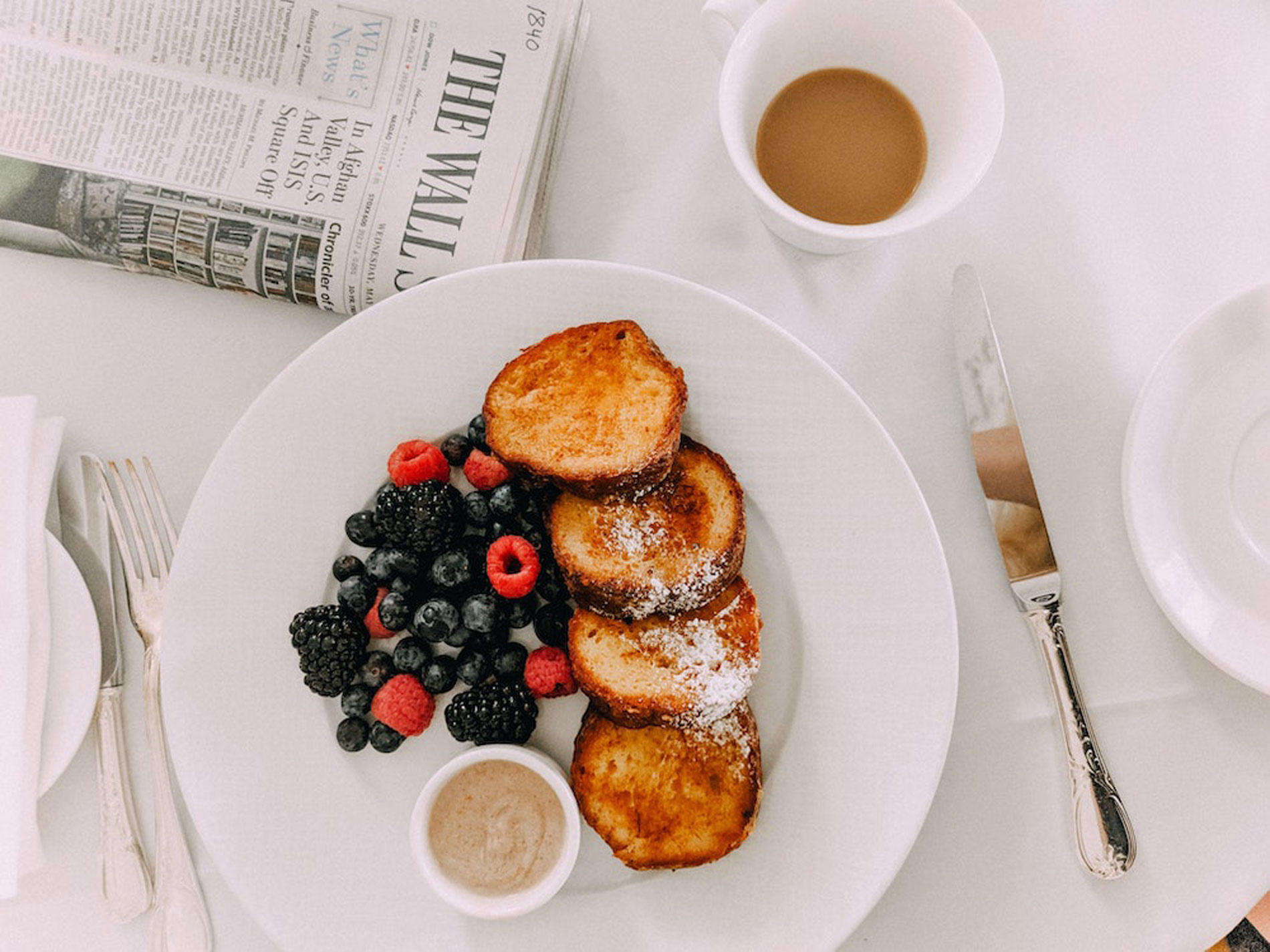 fruit and french toast