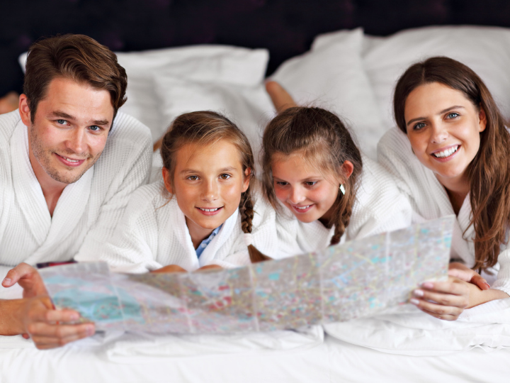 A family spending time at the Duxton Hotel Perth