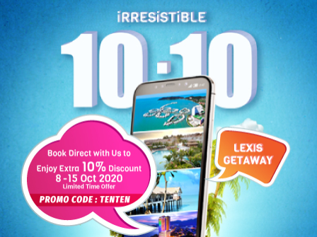 Lexis Hotel Group Irresistible 10.10 Direct Booking Promotion