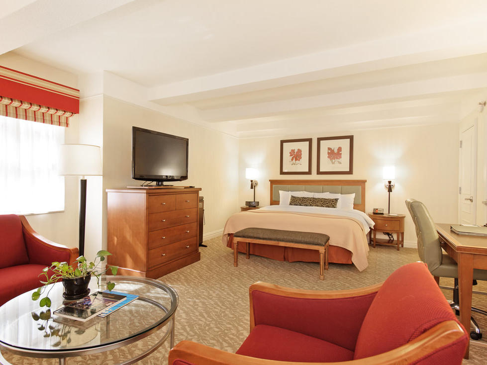 Bed in hotel suite