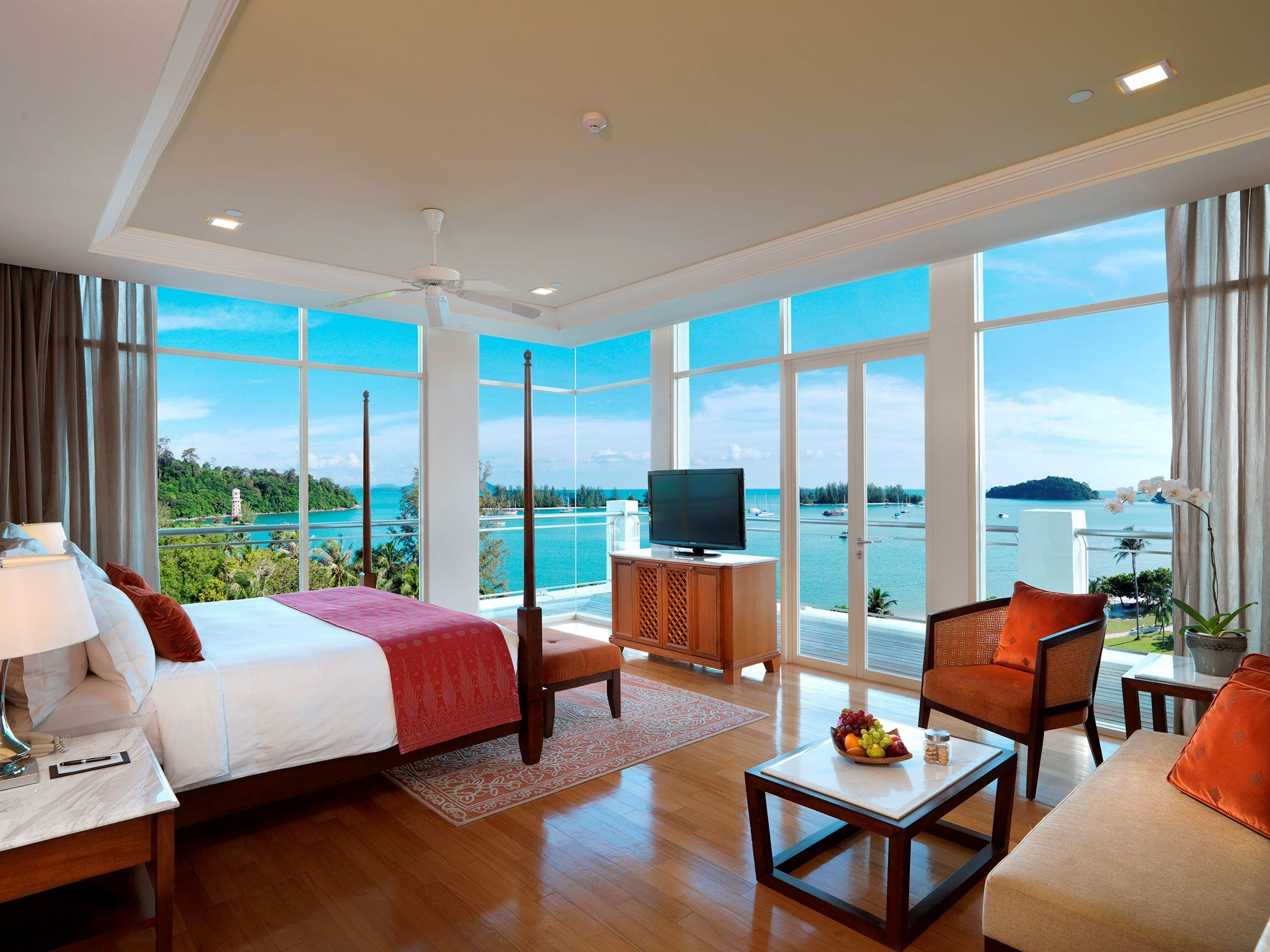 Bedroom with beautiful exterior view