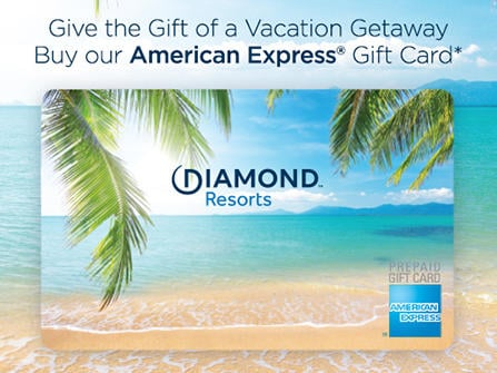 American Express Gift Card by Diamond Resorts offer to buy
