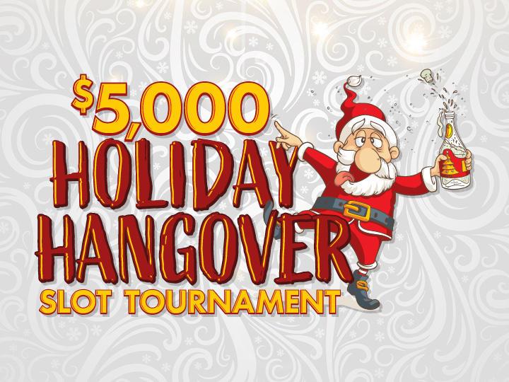$5,000 Holiday Hangover Slot Tournament Logo