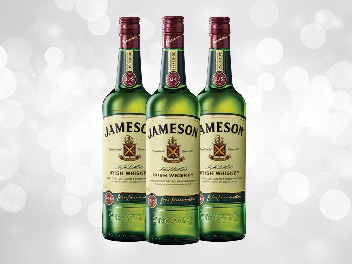 Bottles of Jameson Irish Whiskey