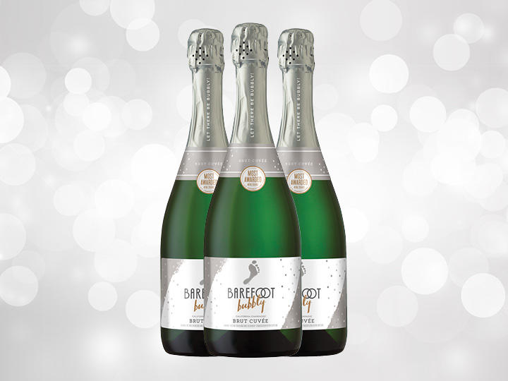 Bottles of Barefoot Bubbly