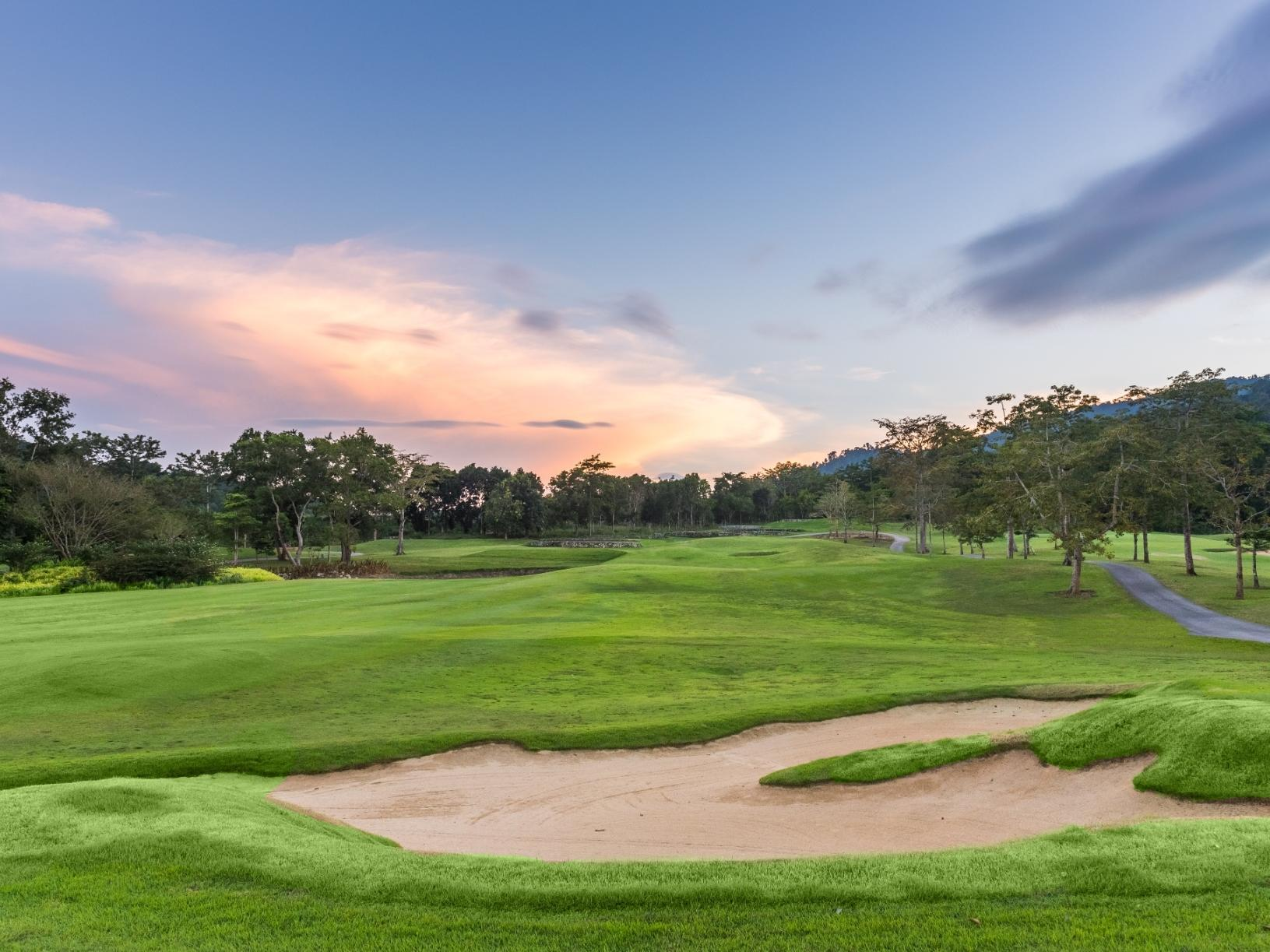 View of golf court at Chatrium Golf Resort Soi Dao Chanthaburi