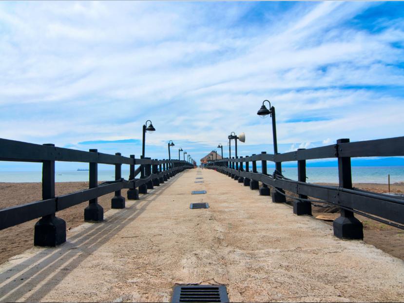 Blue sky view with bridge at Fiesta Resort