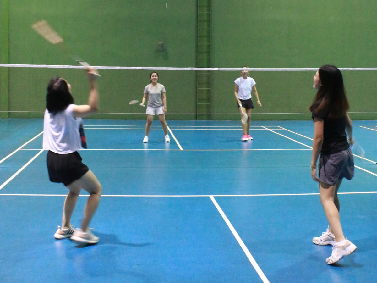 Badminton players  - Eastin Hotel