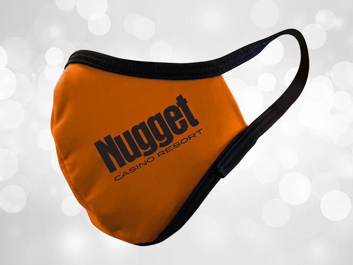 Rust Colored Face Mask with Black Nugget logo