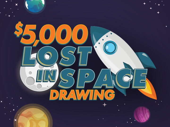 $5,000 Lost in Space Drawing Logo