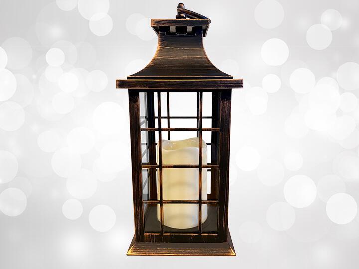 Brushed Copper Candle Lantern