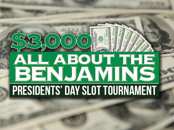 $3,000 All About the Benjamins Slot Tournament Logo