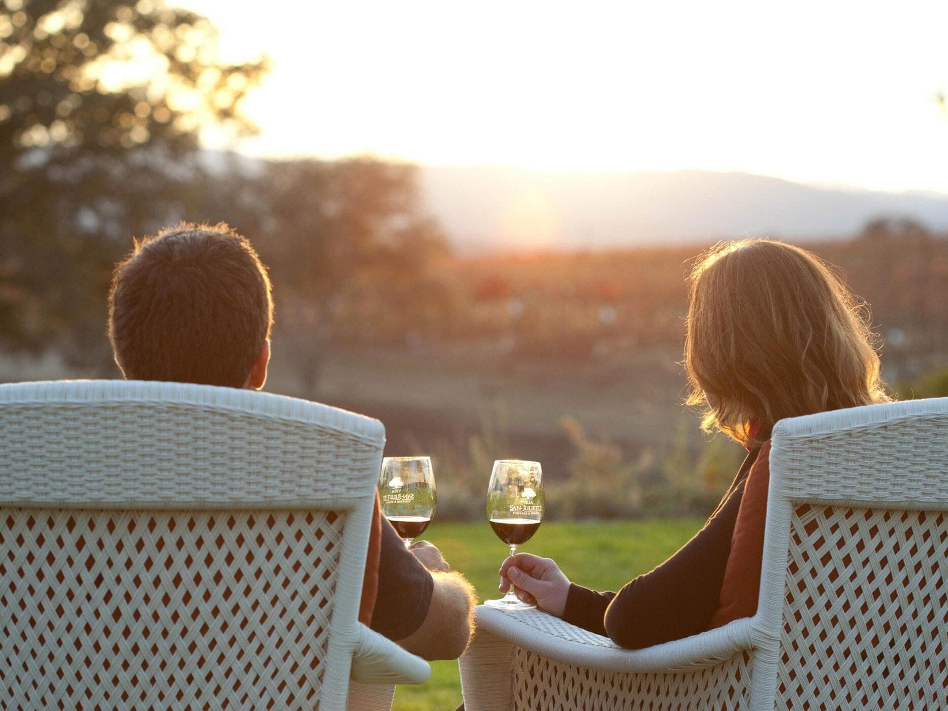 A couple enjoying the views at NOI Blend Colchagua
